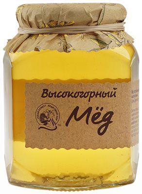 Высокогорный мед натуральный 500г Кедровый Бор