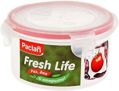 Контейнер для продуктов круглый объем - 0,68л, PACLAN Fresh Life