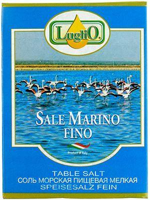 Соль морская мелкая LugliO 1кг Италия