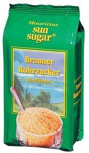 Сахарный песок тростниковый 500г коричневый, Sun Sugar, Германия
