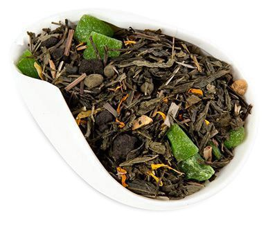 Чай зеленый Лайм и Женьшень 100г ароматизированный, Китай