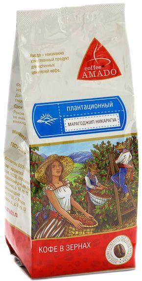 Кофе AMADO Марагоджип Никарагуа 200г зерновой, бережной обжарки, плантационный, Россия