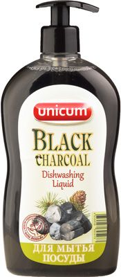 Средство для мытья посуды Черный уголь 550мл UNICUM
