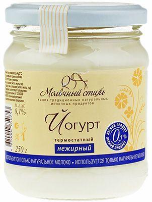 Йогурт нежирный термостатный 0,1% жир., 250г Молочный стиль, 21 сутки