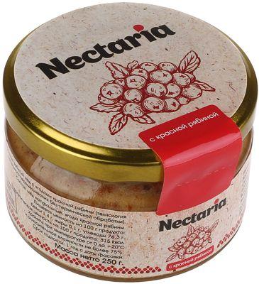 Мед натуральный взбитый с ягодами красной рябины 250г Nectaria, без термической обработки