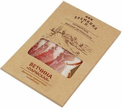 Ветчина Пармская нарезка 100г сырокопченая, натуральная, из фермерского мяса