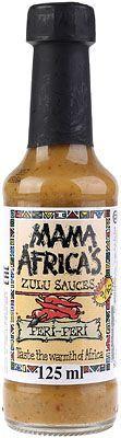 Соус Пери-пери 125мл для курицы и мяса, Mama Africa's Zulu