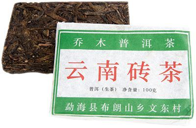 Чай Шен пуэр кирпич 100г Старые Деревья из Буланьшань, Китай