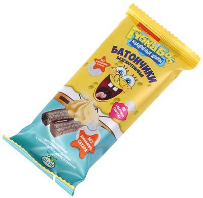 Батончики амарантовые с начинкой крем-брюле 20г безглютеновые, витаминизированные, Губка Боб, Di&Di