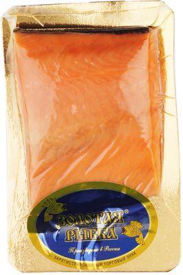 Кета слабосоленая филе ~200г кусок на коже, Золотая рыбка