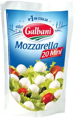 Сыр Моцарелла Мини 45% жир., 150г Galbani