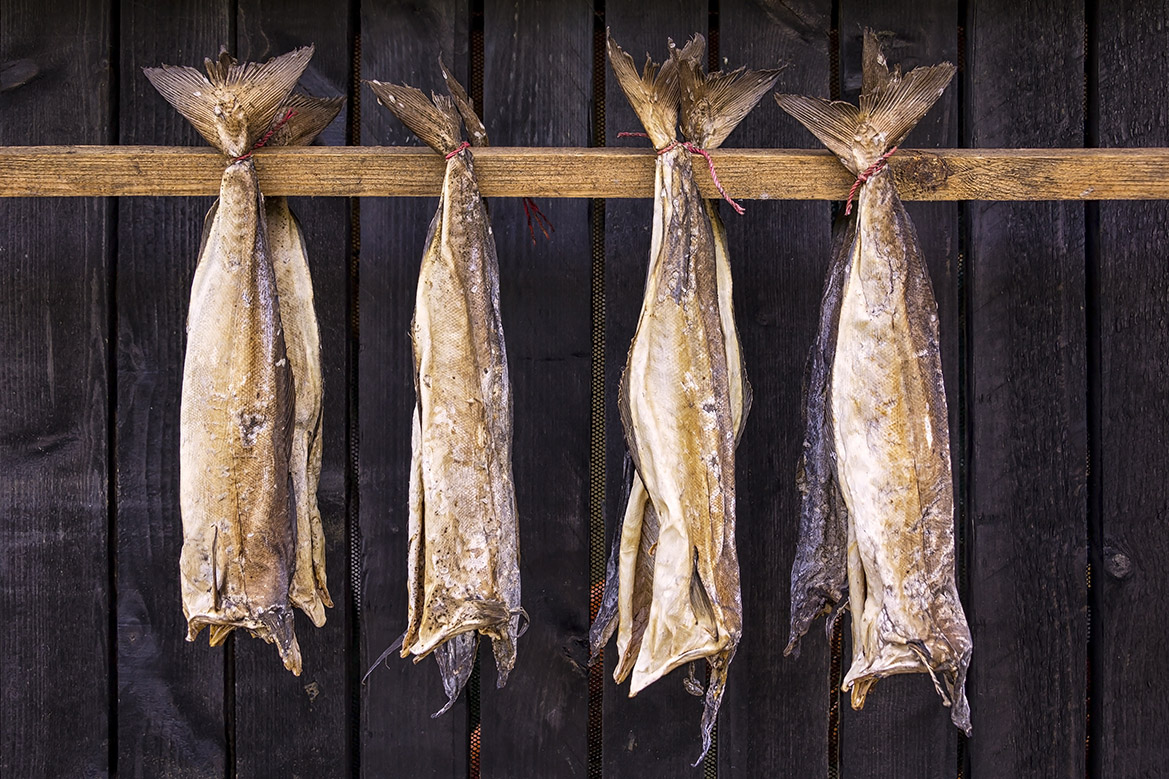Стокфиск - сушеная без соли треска