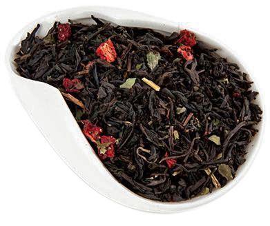 Чай черный Земляника со сливками 100г ароматизированный