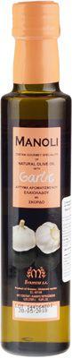 Оливковое масло Чеснок 0,25л на травах и специях, Extra Virgin, Manoli