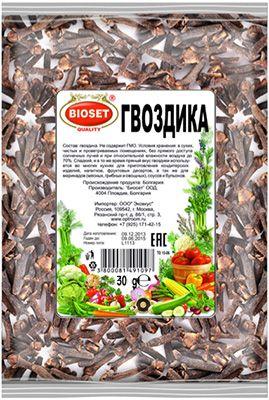 Гвоздика 30г Bioset, Болгария