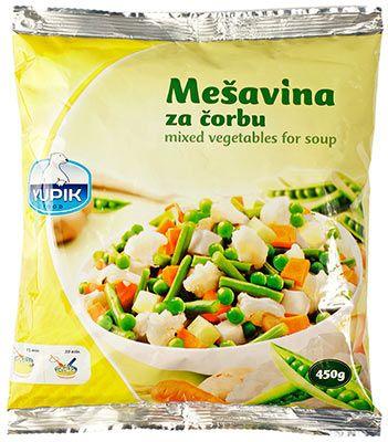 Смесь овощная для супа 450г быстрозамороженная