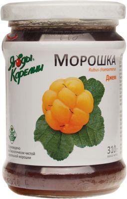 Джем морошка Ягоды Карелии 310г не содержит ГМО, без консервантов, без искусственных добавок