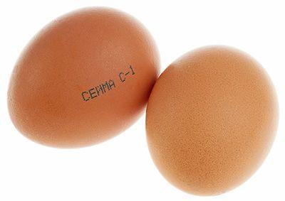 Яйца куриные С1 деревенские 10шт коричневые, Сеймовская птицефабрика
