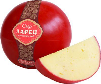 Сыр Ларец классический ~ 1кг шар, 50% жирность, Россия