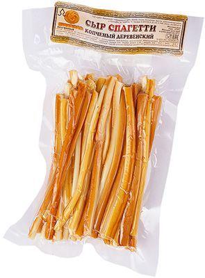 Сыр Спагетти копченый 40% жир., 100г полужирный, Деревенский, Адыгея