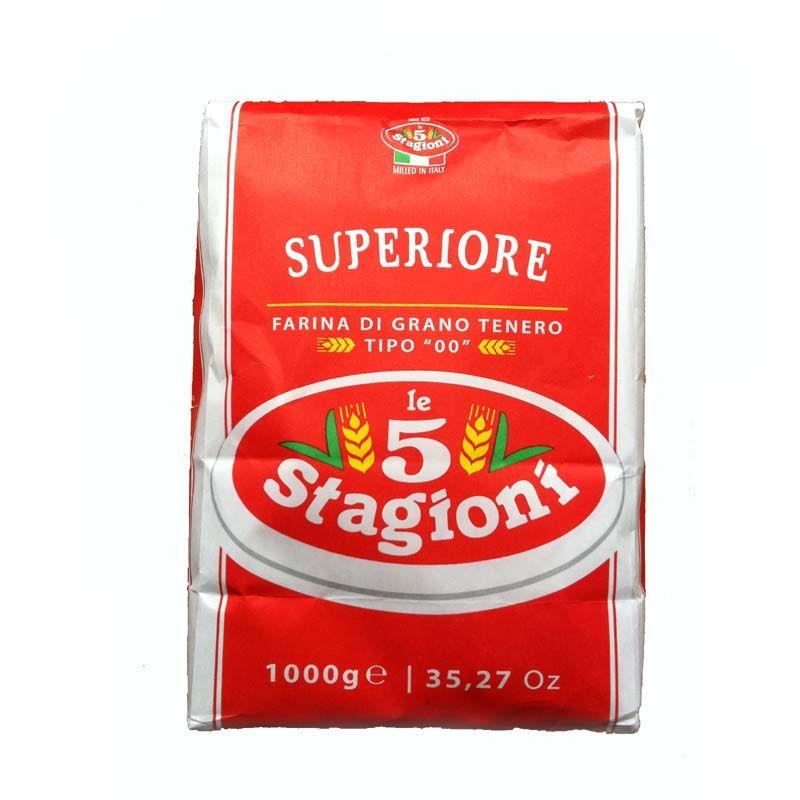 Мука для пиццы супериор, 1кг 00/S, 5-STAGIONI, из мягких сортов пшеницы