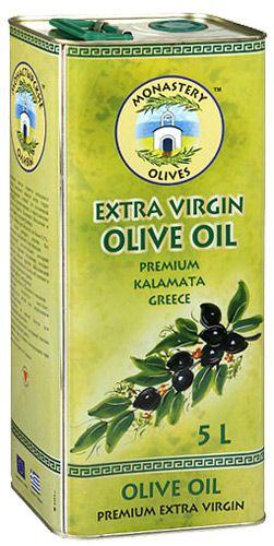 Оливковое масло Extra Virgin, 5л первый холодный отжим, Монастырские оливы