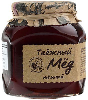Таёжный мед натуральный 500г темный, Кедровый бор
