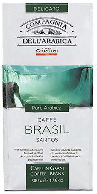 Кофе DELL'ARABICA Бразилия 500г 100% арабика, в зернах, Италия