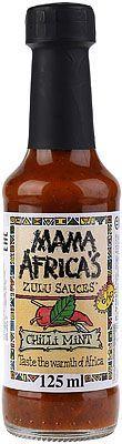Соус Чили с мятой 125мл для мяса, пиццы и снеков, Mama Africa's Zulu
