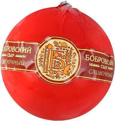 Сыр Сливочный шар 50% жир., ~1кг шар, полутвердый, Бобровский СЗ