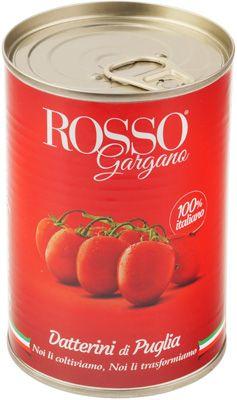 Помидоры Даттерини в собственном соку 400г томаты, Rosso Gargana, Италия