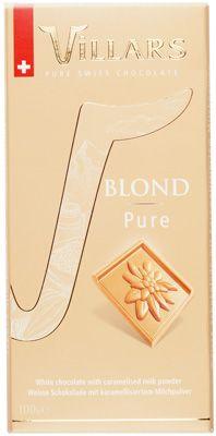 Шоколад белый Blond Pure 100г с сухим карамелизированным молоком, Швейцария