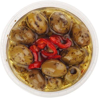 Оливки без косточки с травами 250г ELLENIKA, в масляной заливке, Греция