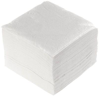 Салфетки бумажные белые 1-слойные, 24х24см, 100шт ALMAX Classic Collection