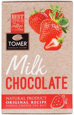 Шоколад молочный с клубникой 90г натуральный продукт по оригинальному рецепту