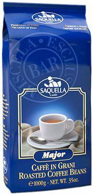 Кофе SAQUELLA Мейджор 1кг 95% арабика, 5% робуста, в зернах, Италия
