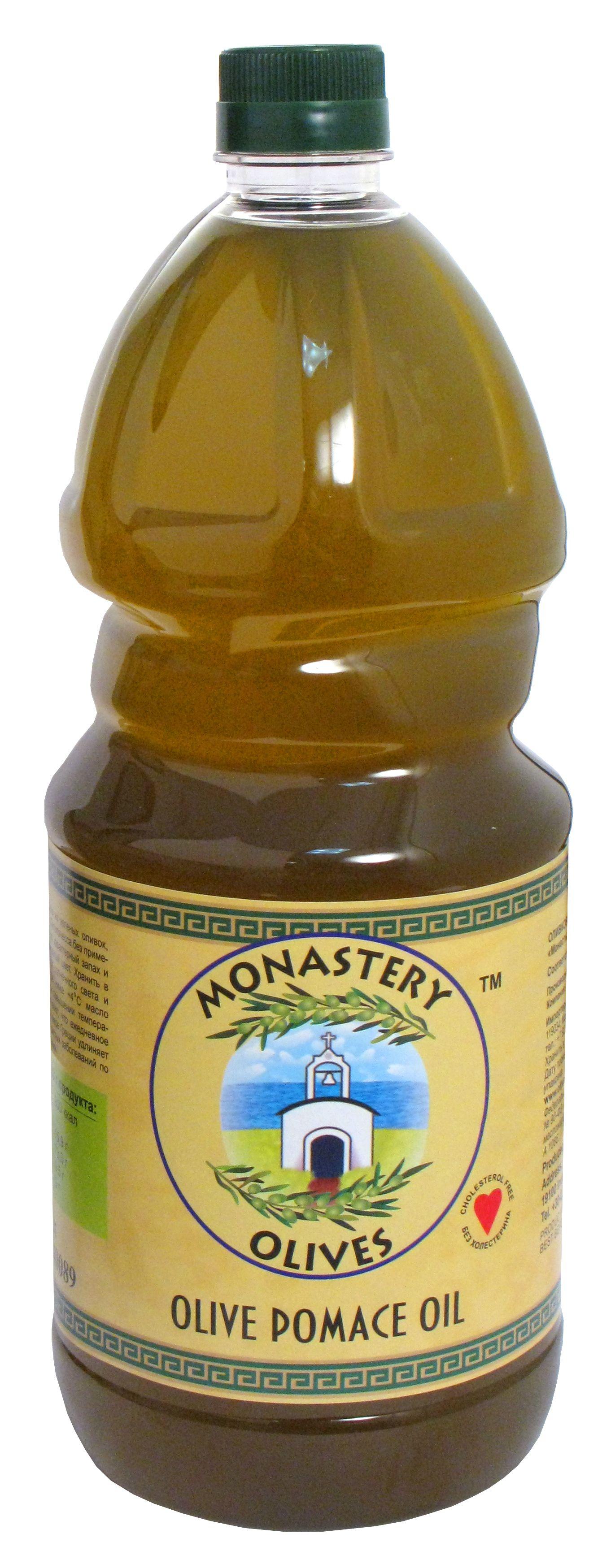Масло оливковое для жарки 2л рафинированное, Pomas oil, Монастырские оливы