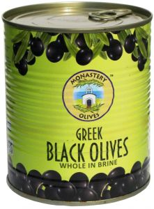 Маслины черные с косточкой 850г Конфитес, Монастырские оливы