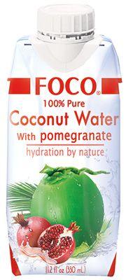 Кокосовая вода со вкусом граната 330мл FOCO, Вьетнам