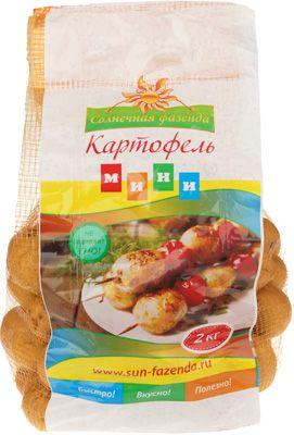 Картофель-мини мытый 2кг сетка, Россия