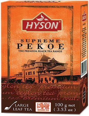 Чай Хайсон цейлонский черный 100г крупнолистовой, HYSON Collection Supreme PEKOE, Шри-Ланка
