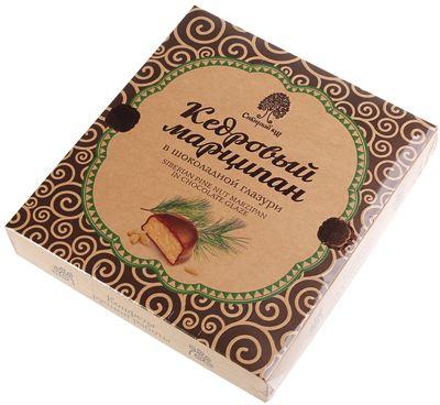 Конфеты кедровый марципан 170гр в шоколадной глазури, Сибирский кедр