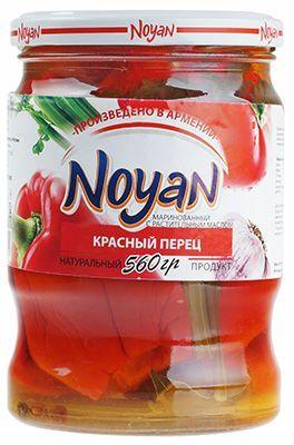 Перец красный маринованный 560г с растительным маслом, Ноян, Армения