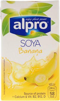 Напиток соево-банановый 250мл обогащенный кальцием и витаминами, ALPRO, Бельгия