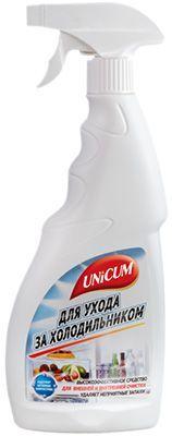 Средство для ухода за холодильником 500мл содержит активные наночастицы, удаляет неприятные запахи, UNICUM