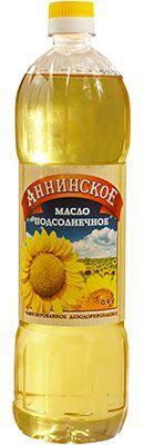 Масло Аннинское 0,9л рафинированное, дезодорированное, подсолнечное 1 сорт