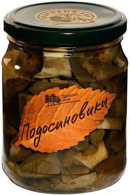 Подосиновики маринованные 500г грибы консервированные, Кедровый бор
