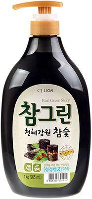Средство для мытья посуды 1л Chamgreen с древесным углем, Корея