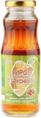 Сироп топинамбура с брусникой 330г пребиотик без сахара