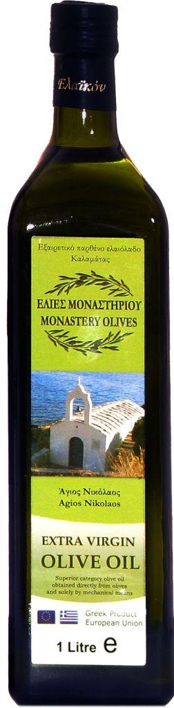 Оливковое масло Extra Virgin 1л первый холодный отжим, Монастырские оливы